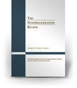 Nonproliferation Review Submissions: NPR Cover